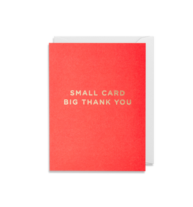 Small Card, Big Thank You