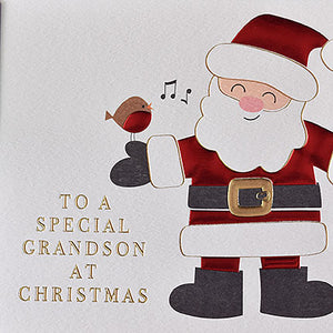To A Special Grandson at Christmas  - Santa