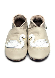 Inch Blue Baby Shoes - Swan Cream