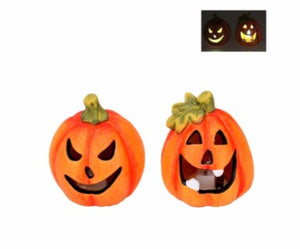 cadeauxwells - Small LED Pumpkin Ornament - Gisela Graham - Seasonal