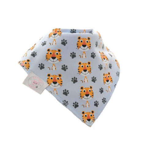 Fun absorbent baby bandana - Terrence Tiger