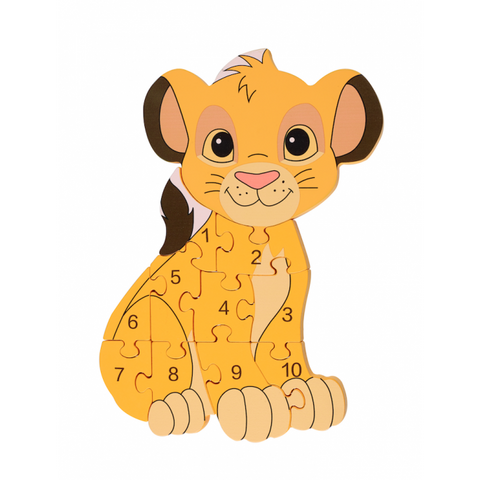 Lion King Number Puzzle - Simba