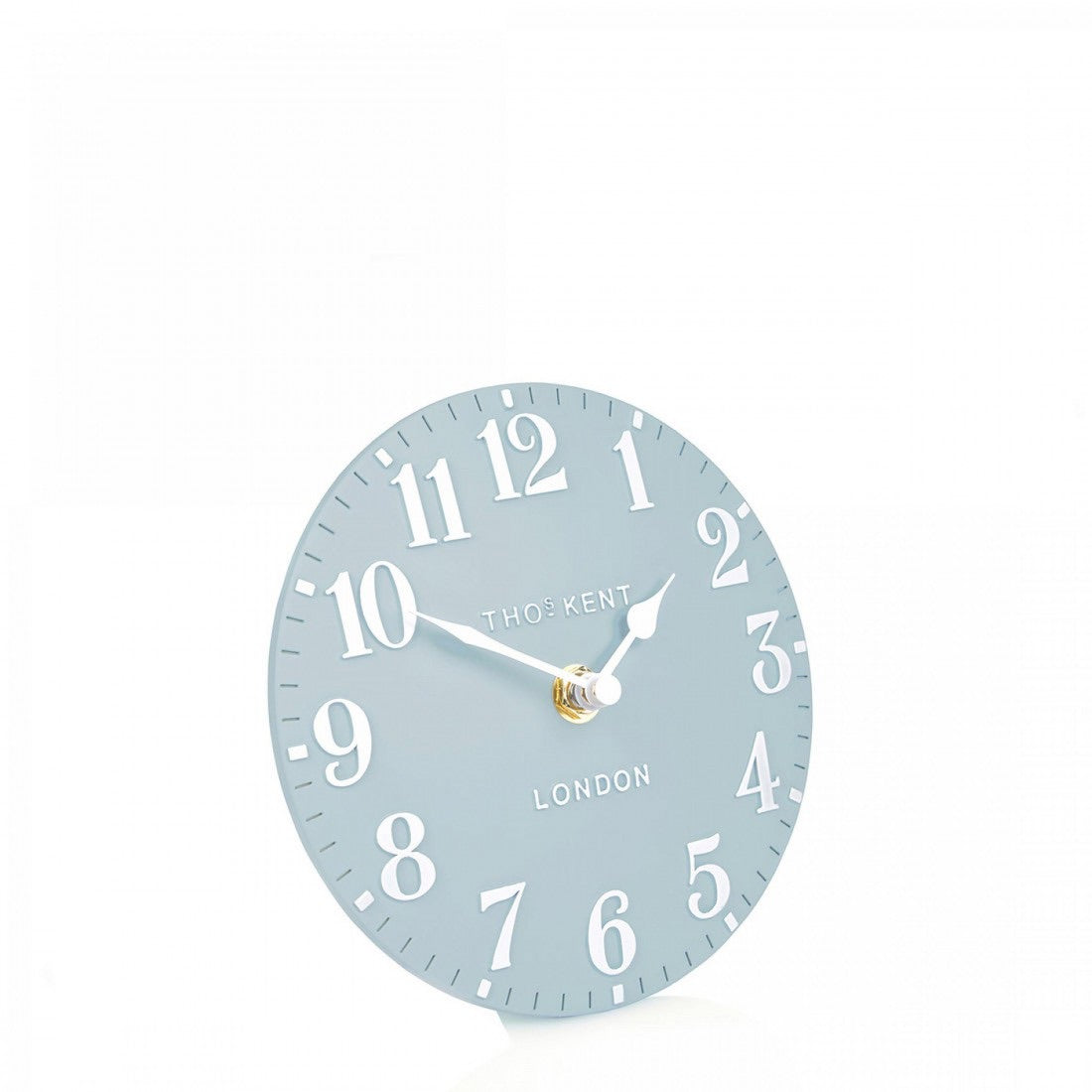 "6"" Arabic Mantel Clock - Stonewash Blue"