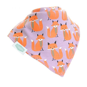 Fun absorbent baby bandana - woodland foxes