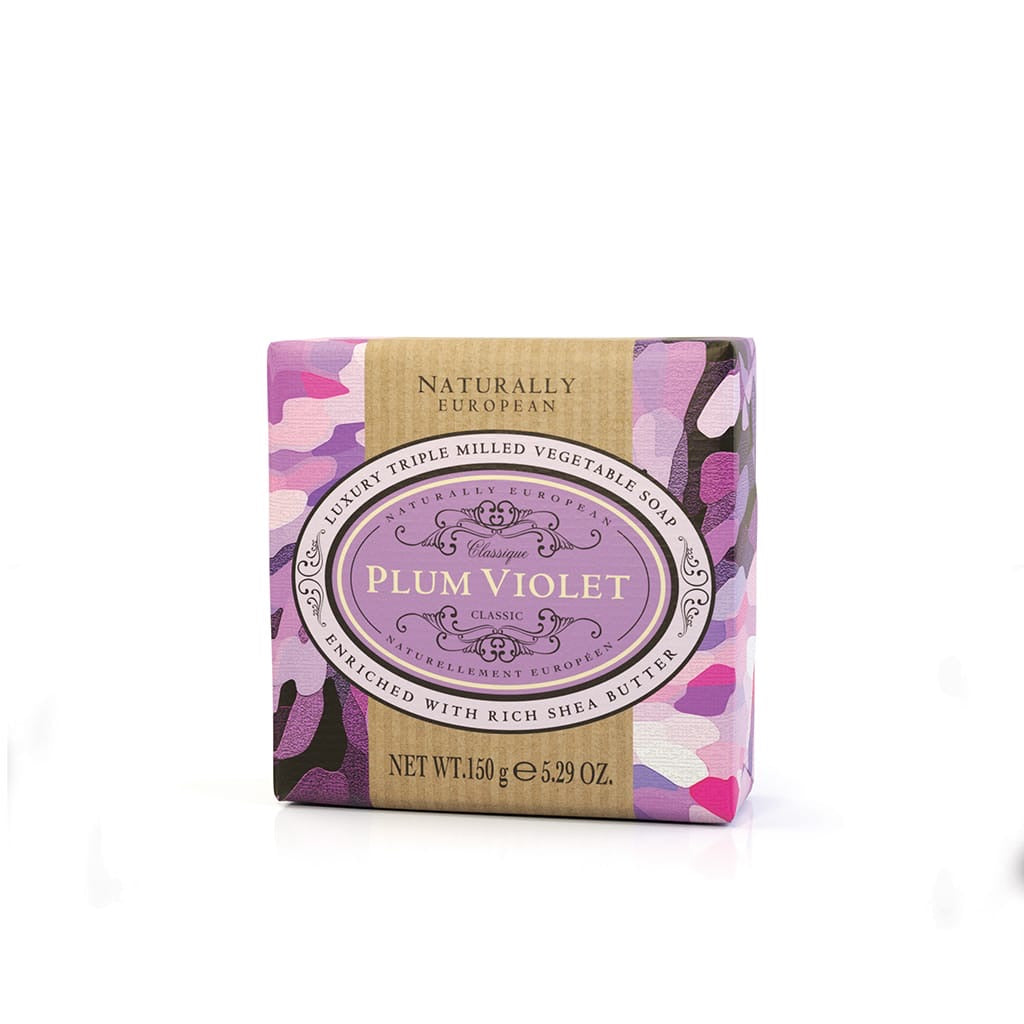 Naturally European Plum & Violet Soap