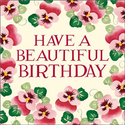 Have A Beautiful Birthday - Pink Pansy
