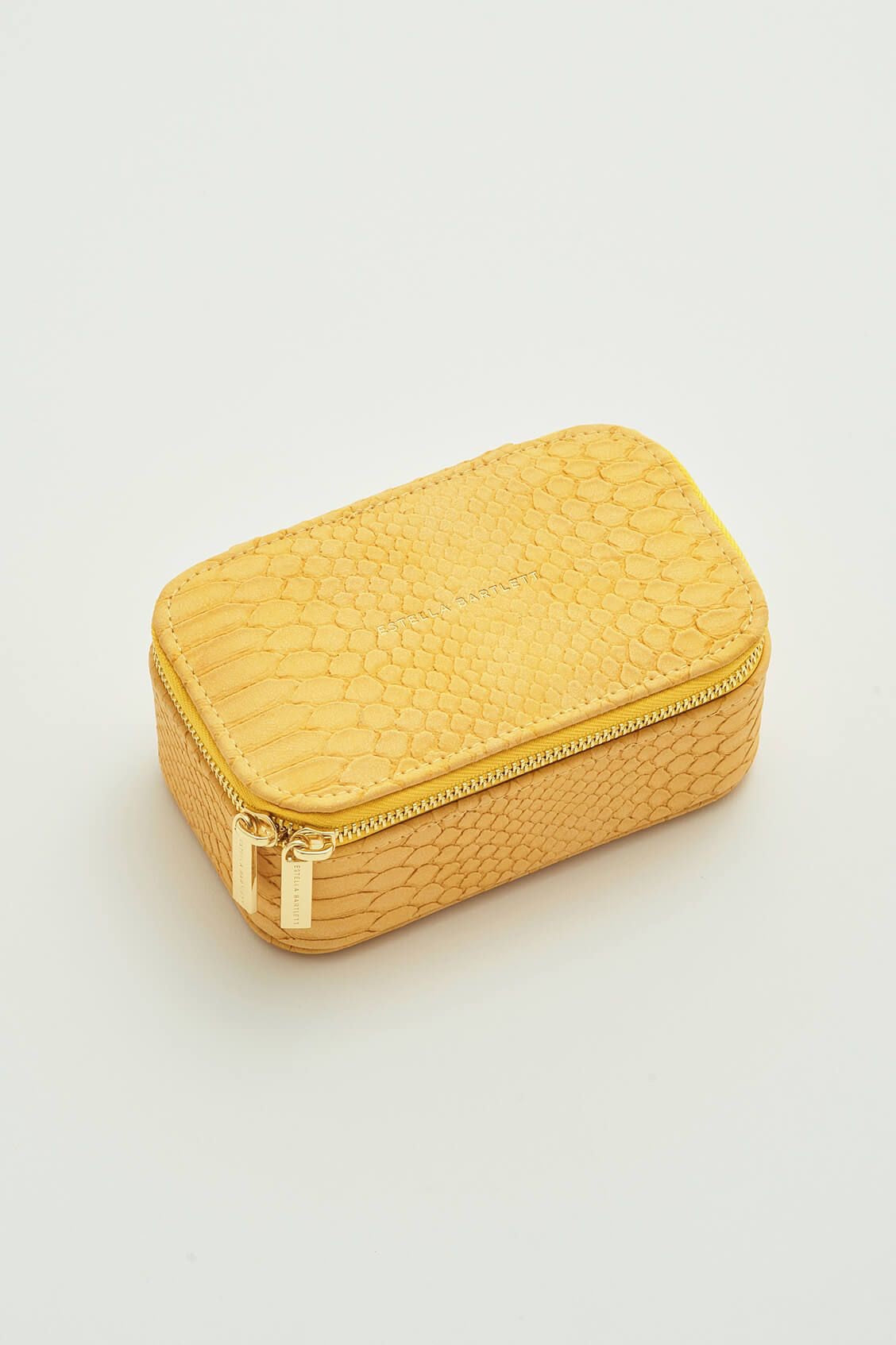 Mini Jewellery Box - Mustard Snake