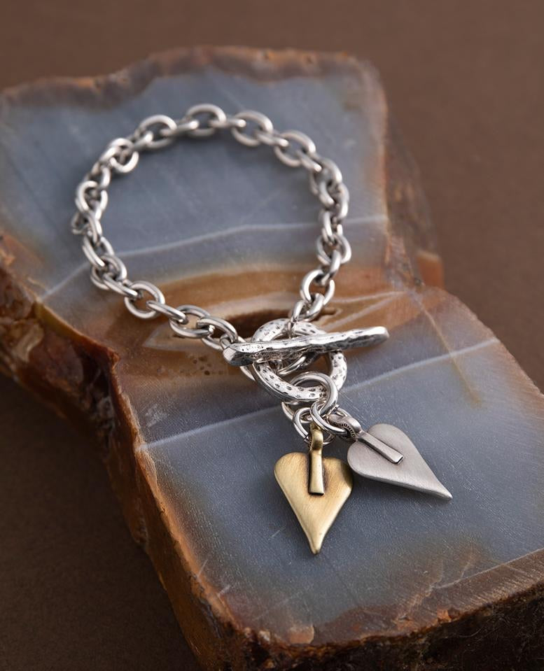 Double Signature Heart Link Bracelet by Danon