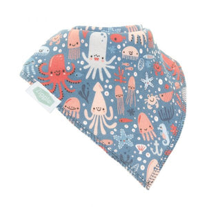 Fun absorbent baby bandana - under the sea