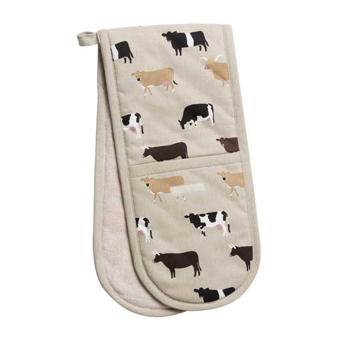 Double Oven Glove - Cows