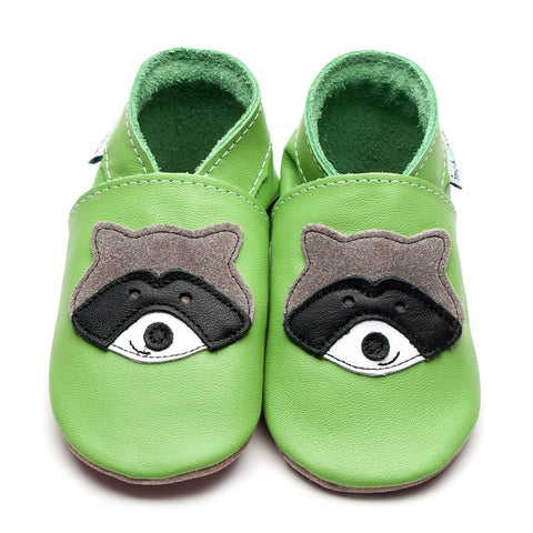 Inch Blue Baby Shoes - Raccoon Green