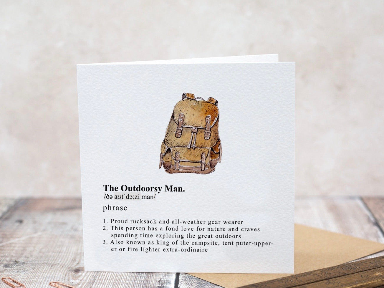The Outdoorsy Man Card