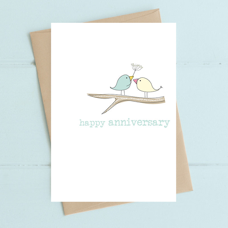 Anniversary - two birds on a branch