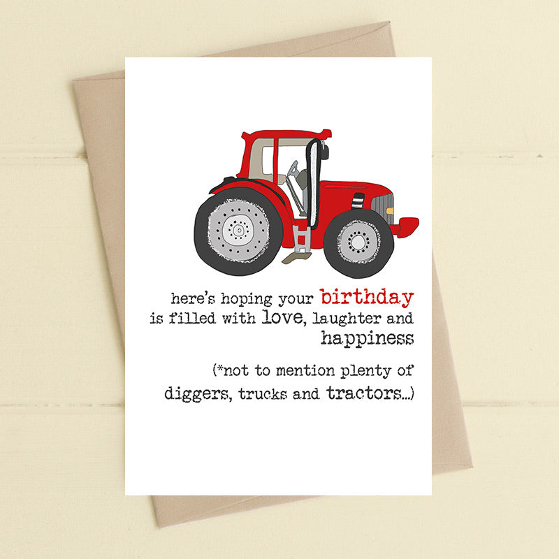 Birthday - Diggers, Trucks & Tractors