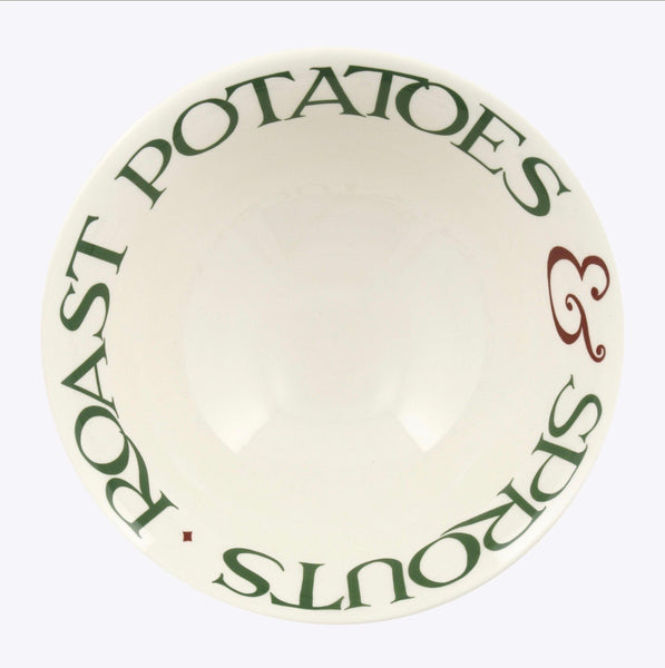 Christmas Toast & Marmalade Roast Potatoes & Sprouts Medium Serving Bowl