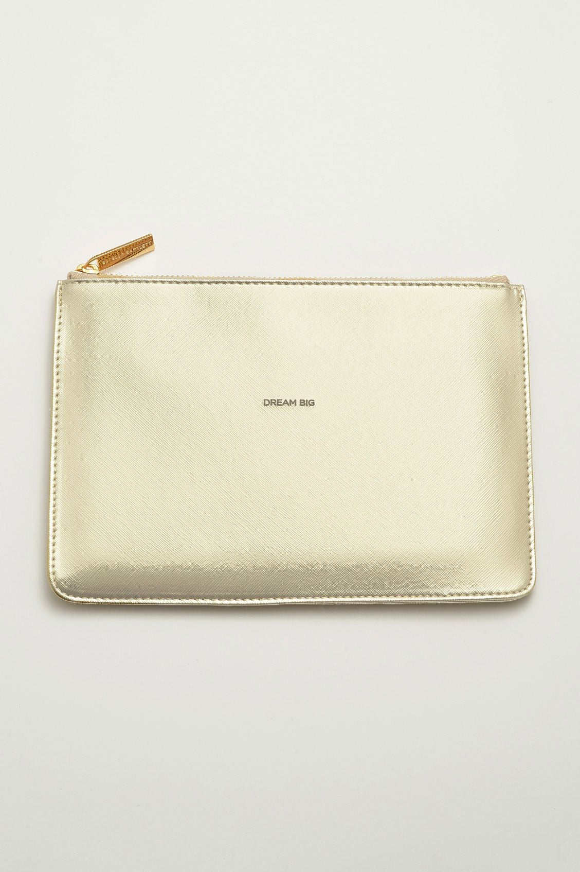 Medium Pouch - Gold 'Dream Big'