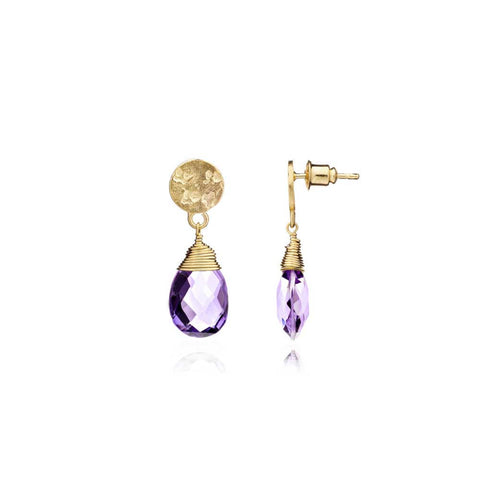 'Kate' Large Earrings - Purple Amethyst