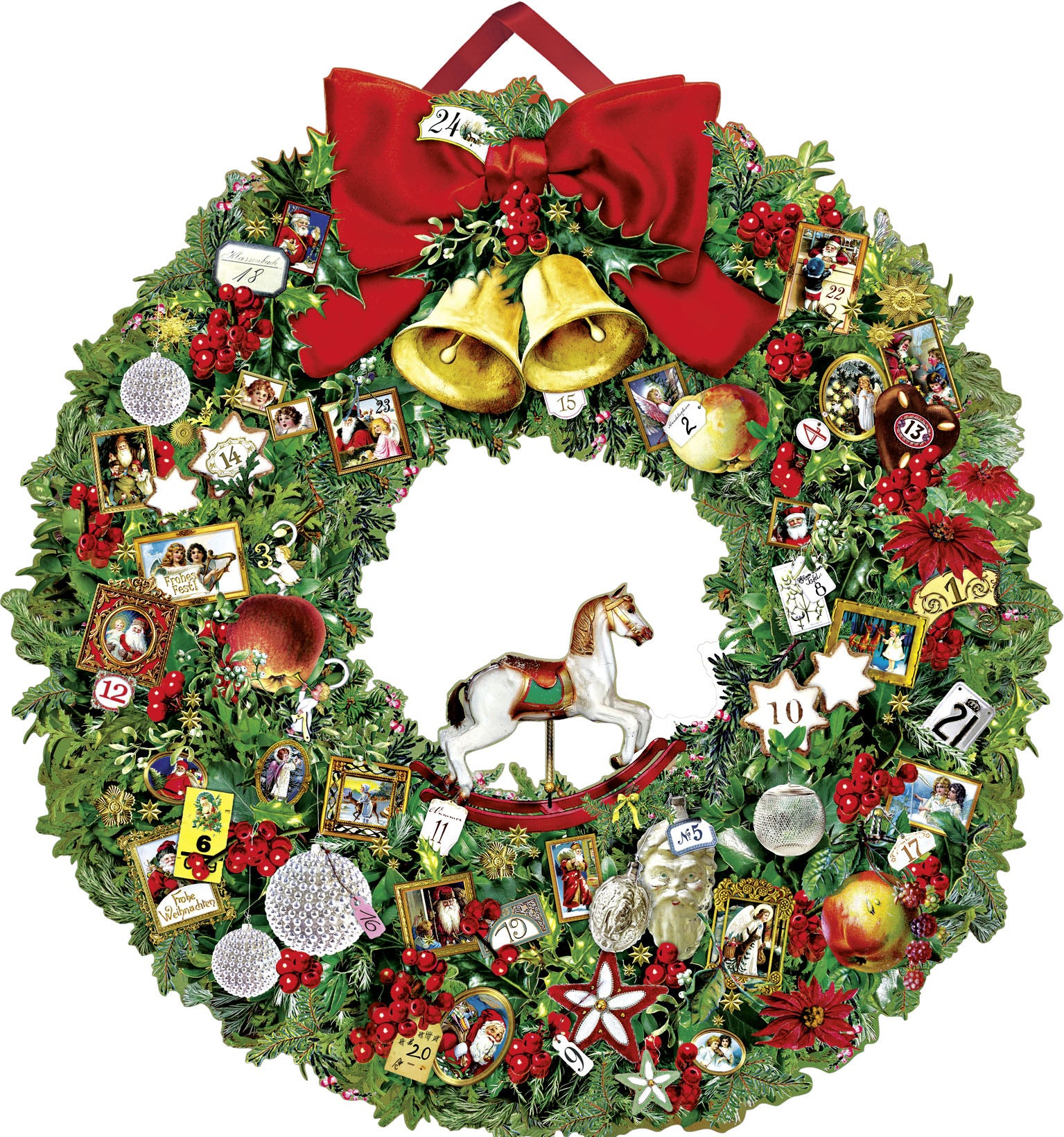 Advent Calendar - Victorian Christmas Wreath