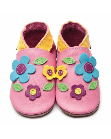 Inch Blue Baby Shoes - Flora Rose Pink