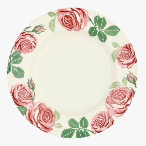 "Pink Roses 10 1/2"" Plate"