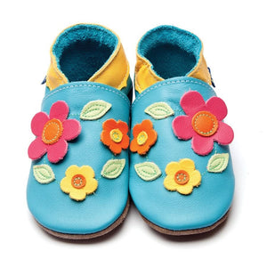 Inch Blue Baby Shoes - Flora - Turquoise