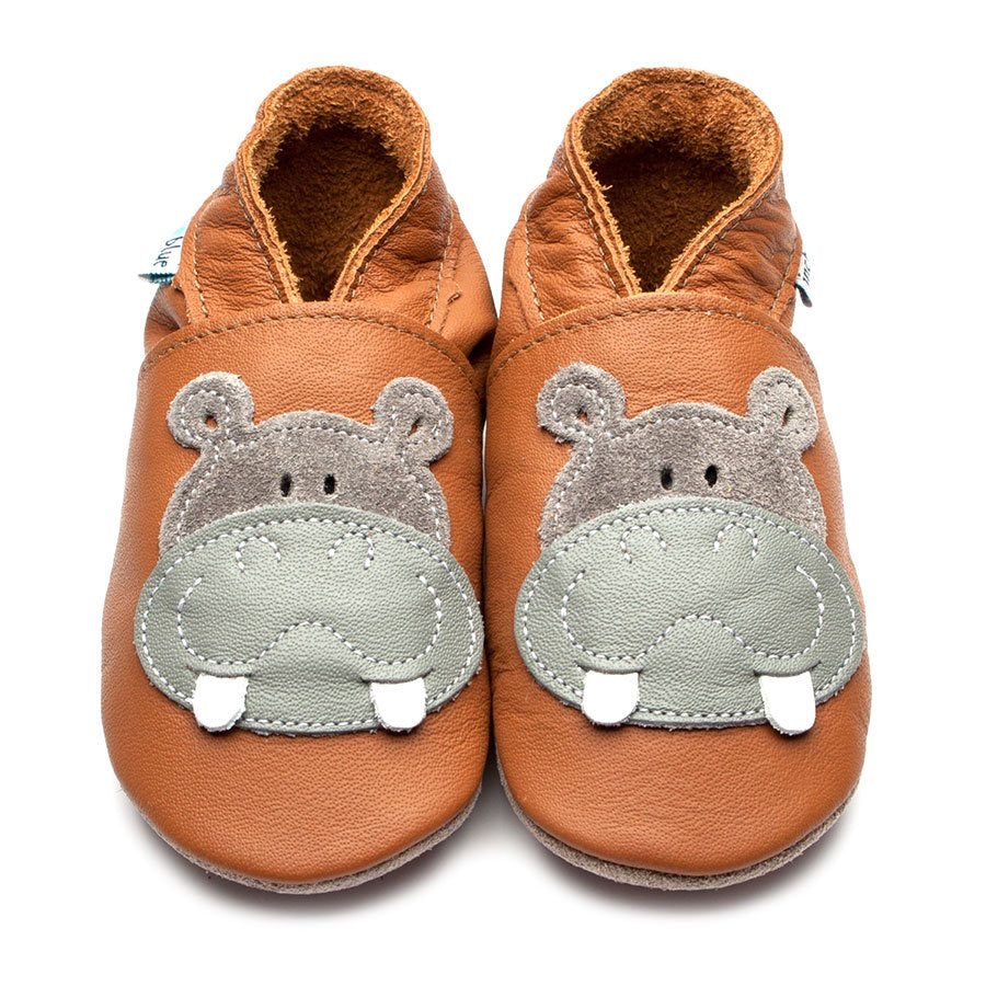 Inch Blue Baby Shoes - Hippo Caramel/Grey