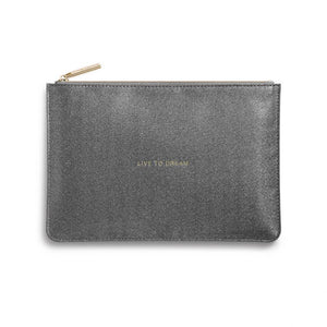 Perfect Pouch - Live to Dream - Shiny Charcoal