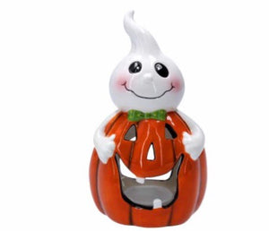 cadeauxwells - Ceramic Pumpkin/Ghost Night Light - Gisela Graham - Seasonal