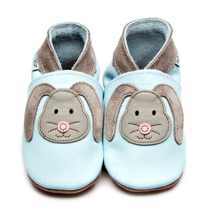 Inch Blue Baby Shoes - Rag Bunny Baby Blue