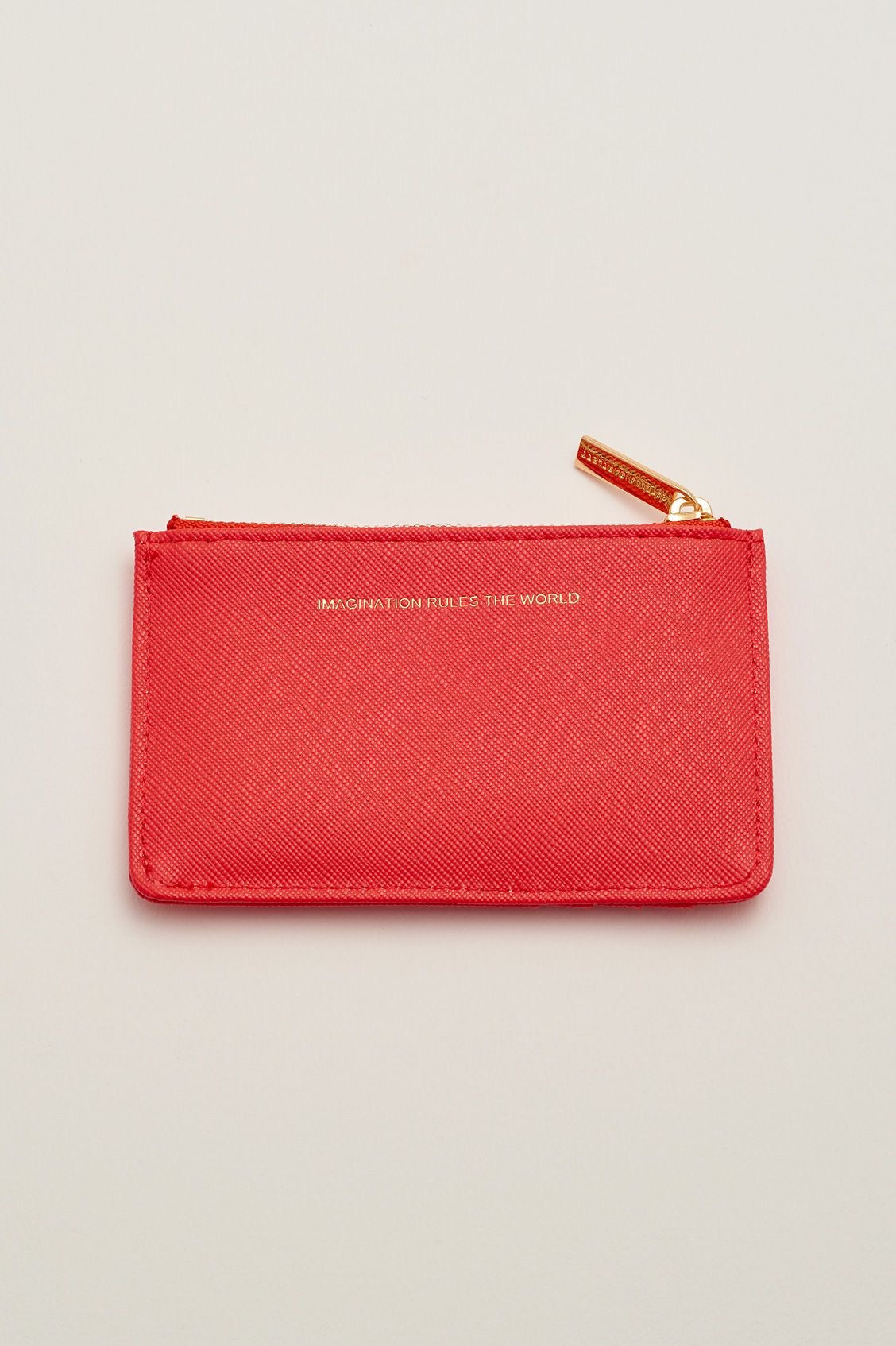 Card Purse - Coral 'Imagination Rules the World'