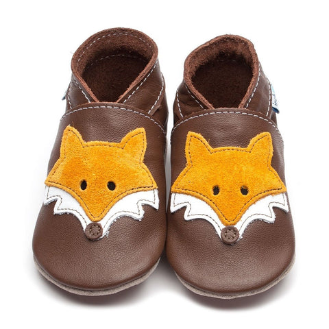 Inch Blue Baby Shoes - Mr Fox Chocolate