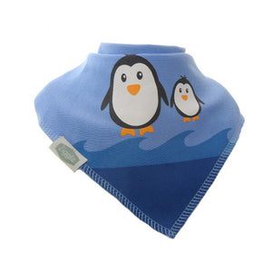 Fun absorbent baby bandana - Penguins Christmas Bib