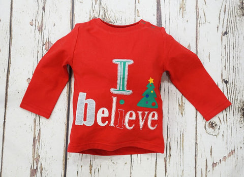 cadeauxwells - 'I believe' Christmas Top - 1-2 years - Arora -