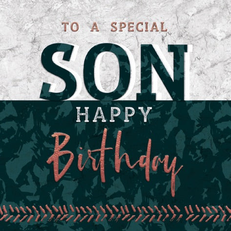 To A Special Son, Happy Birthday