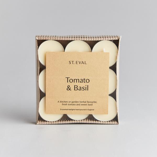 cadeauxwells - Scented Tealight x 9 - Tomato & Basil - St Eval Candles -