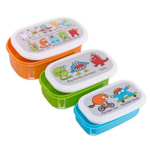 Set of 3 Snack Boxes - Monsters