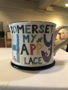 cadeauxwells - Mug - Somerset My Happy Place - Moorland Pottery -