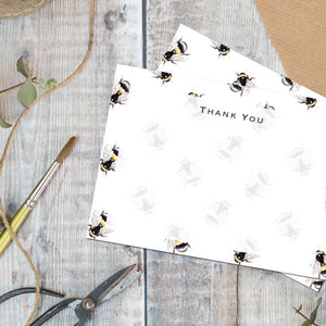 Bumblebees - Set of 6 Thank You Cards