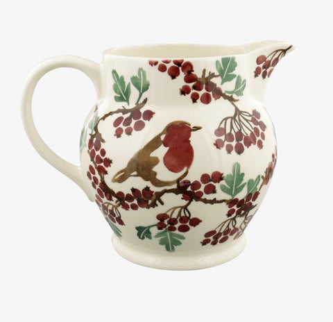 Hawthorn Berries & Robin 3 Pint Jug
