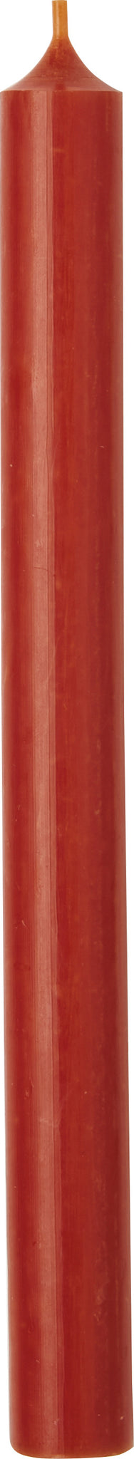 Dusty Orange Cylinder Candle - 25cm