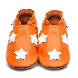 Inch Blue Baby Shoes - Stardom Orange/White