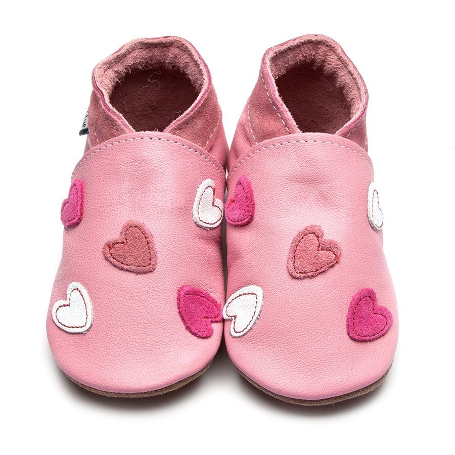 Inch Blue Baby Shoes - Cariad Baby Pink