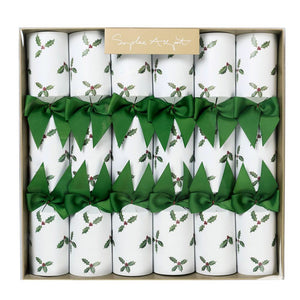 Christmas Crackers (set Of 6) - 12 Inches - Holly