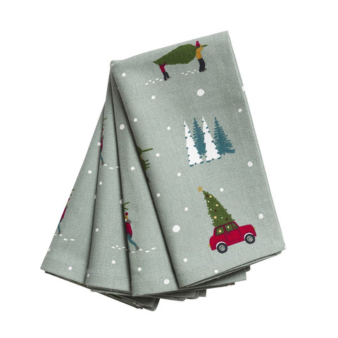 Napkins (Set of 4) - Home for Christmas