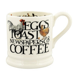 Emma Bridgewater Rise & Shine 'Eggs & Toast' 1/2 Pint Mug