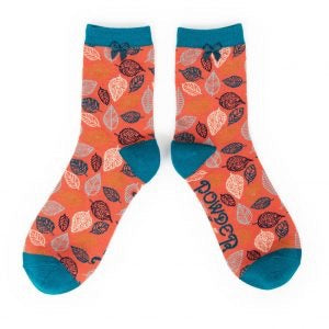 Ankle Socks - Leaf Tangerine