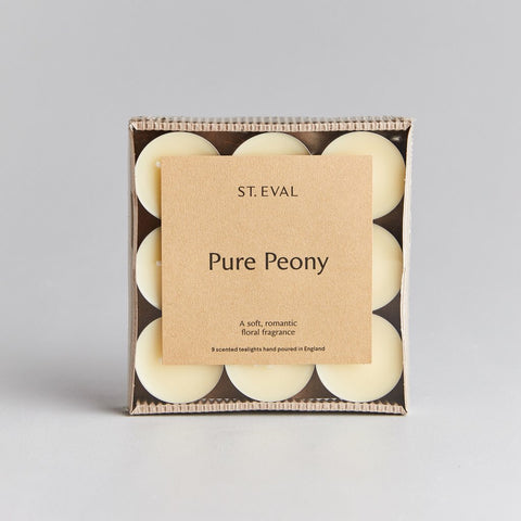 cadeauxwells - Scented Tealight x 9 - Pure Peony - St Eval Candles -