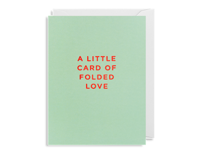A Little Card of Folded Love Greeting Card