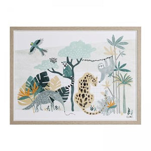 In the Jungle - Framed Print