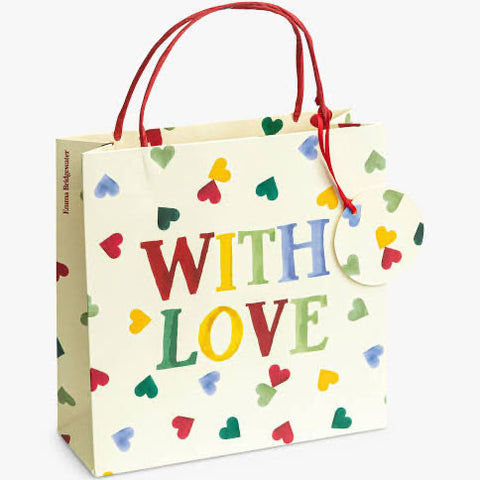 Multi Hearts Medium Gift Bag - Emma Bridgewater